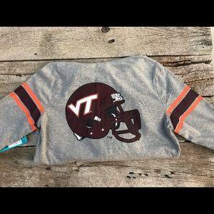 NWT Virginia Tech Hokies Zip Up Sparkle Hoodie